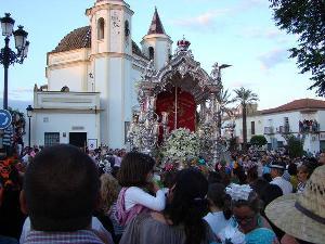Peregrinación al Rocío de la Hermandad de Olivares